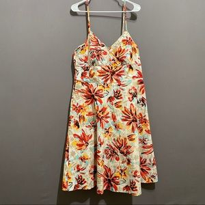 New York & Co flowered cotton dress size 12